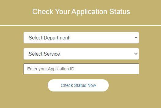 sevasindhu application status